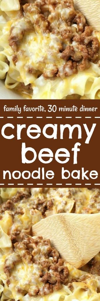 creamy beef noodle bake