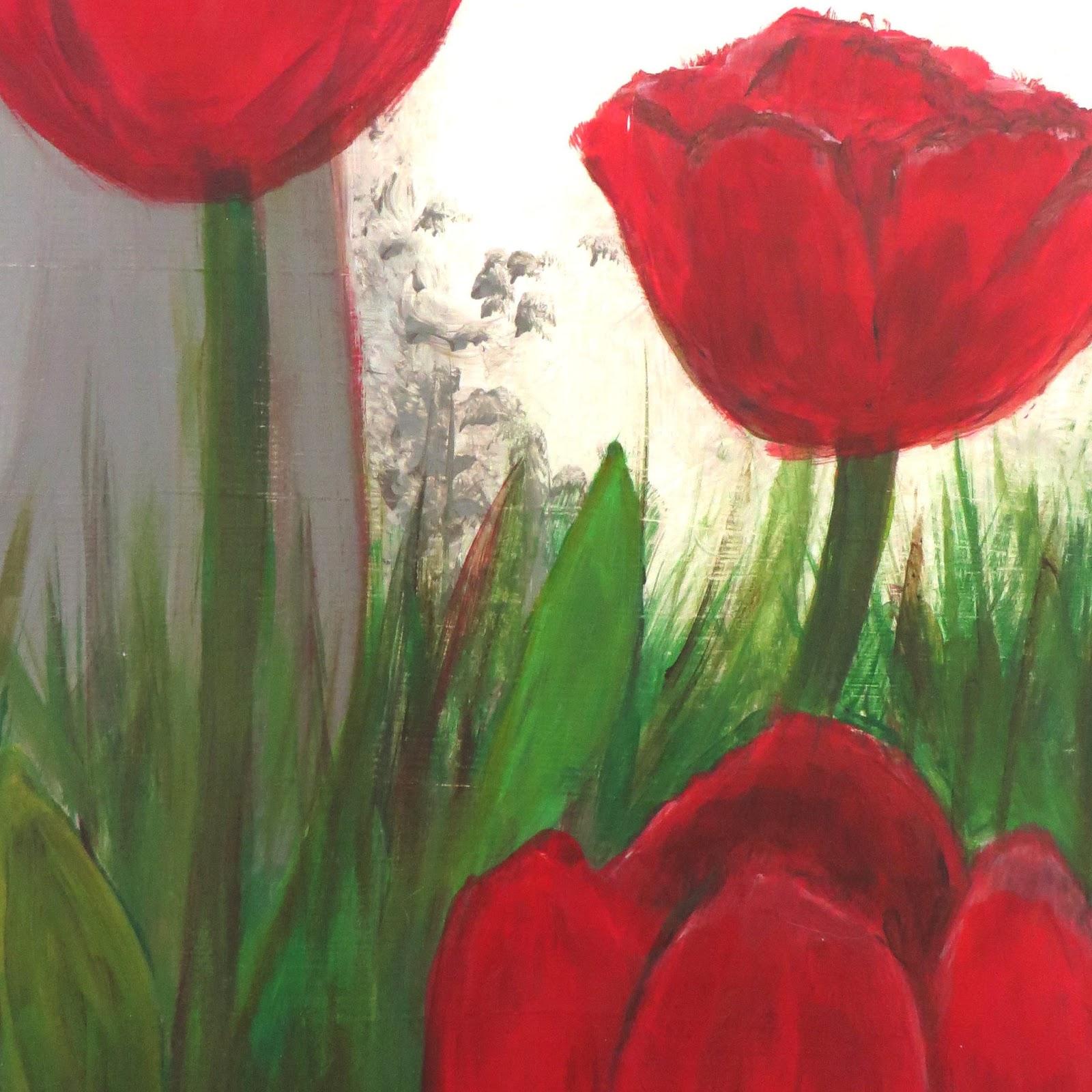 Oil Tank Tulips