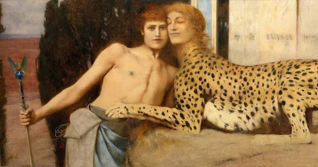 KHNOPFF - Carezze - sex art - zoofilia