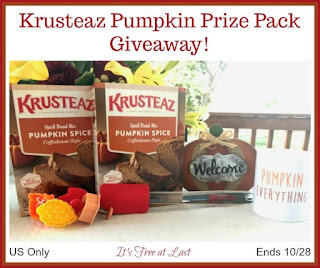 Enter the Krusteaz Pumpkin Prize Pack Giveaway. Ends 10/28