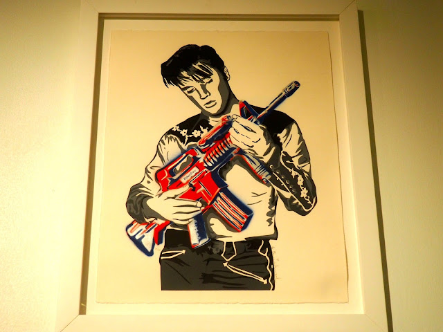 Elvis Presley painting from Mr Brainwash exhibit at ARA Modern Art Museum, Seoul, South Korea