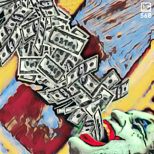 Joaquin Phoenix Joker vomits money