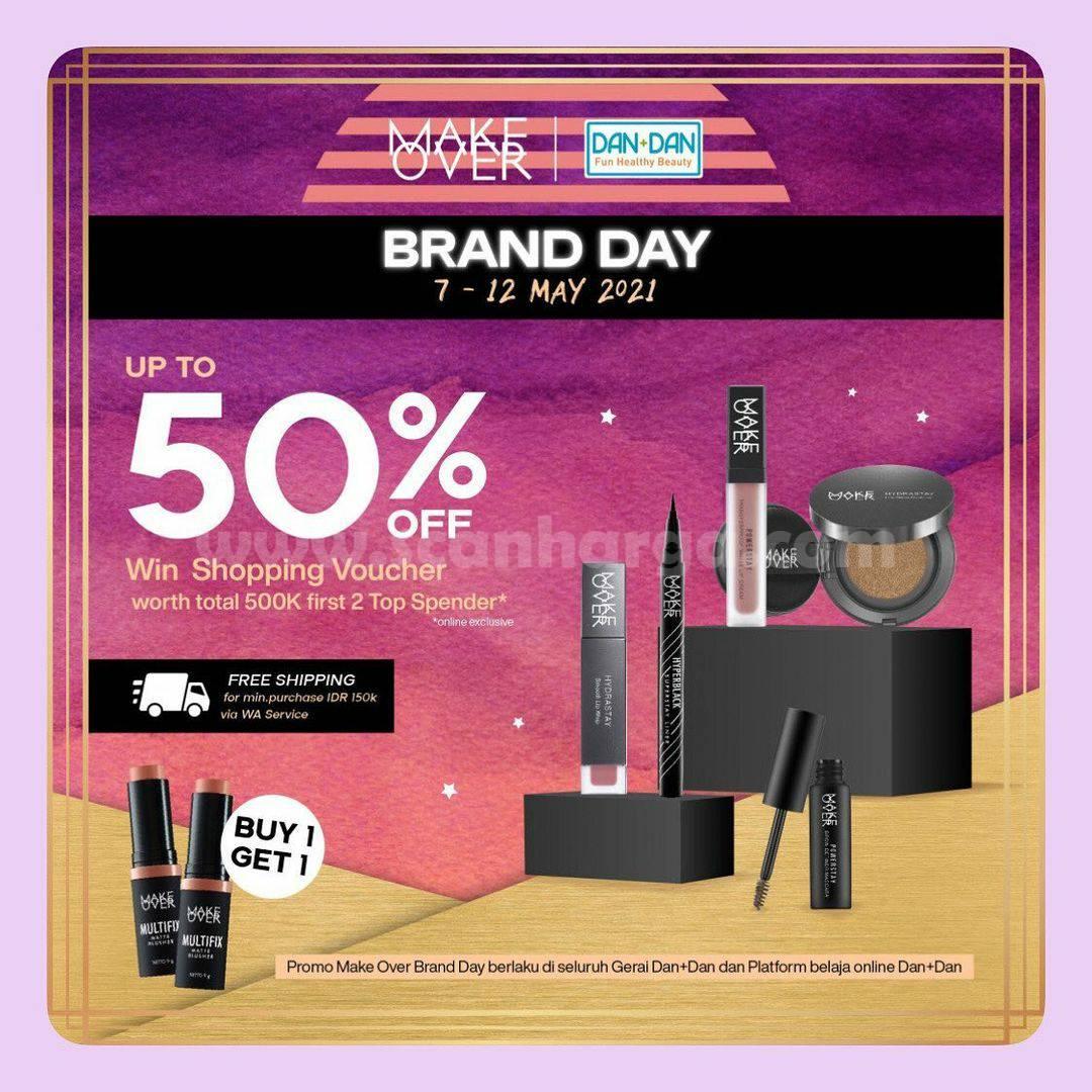 Promo DAN+DAN MAKE OVER Brand Day - Discount up to 50% Off