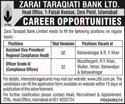 zarai-tarakiati-bank-limited-jobs-2020