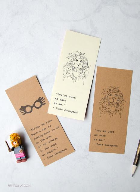 Luna Lovegood quotes free printable bookmarks