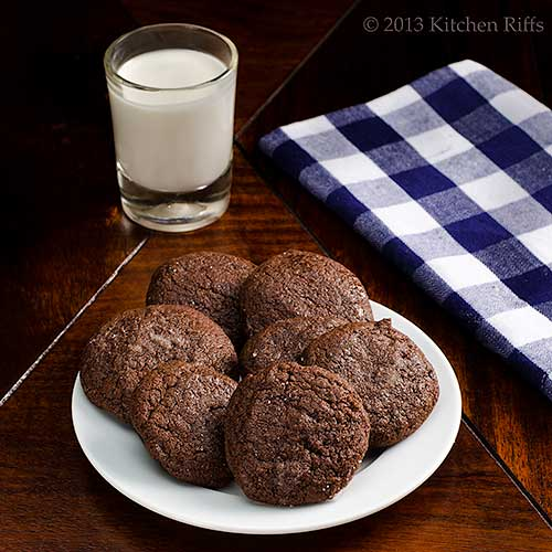 Double Orange Dark Chocolate Cookies