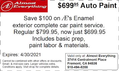 Coupon $699.95 Auto Paint Sale April 2021