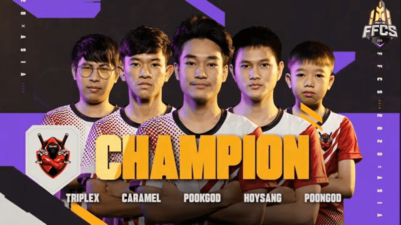 Free Fire Continental Series (Asia) or FFCS Grand Finals 2020 winner EXP Esports.