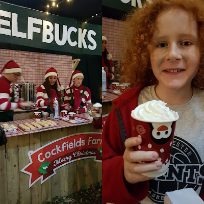 Cockfields Farm Christmas Elf Village Elfbucks Coffee shop hot chocolate mulled wine
