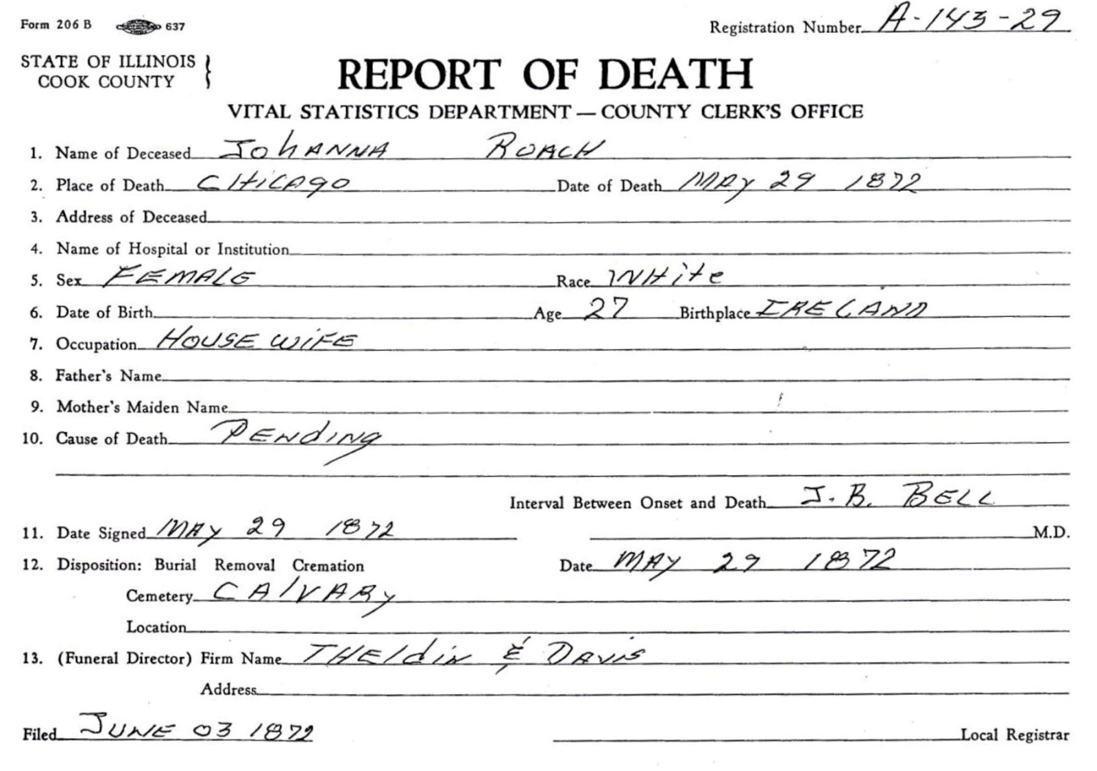 report of death chicago il click to enlarge