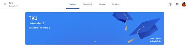 tampilah halaman google classroom