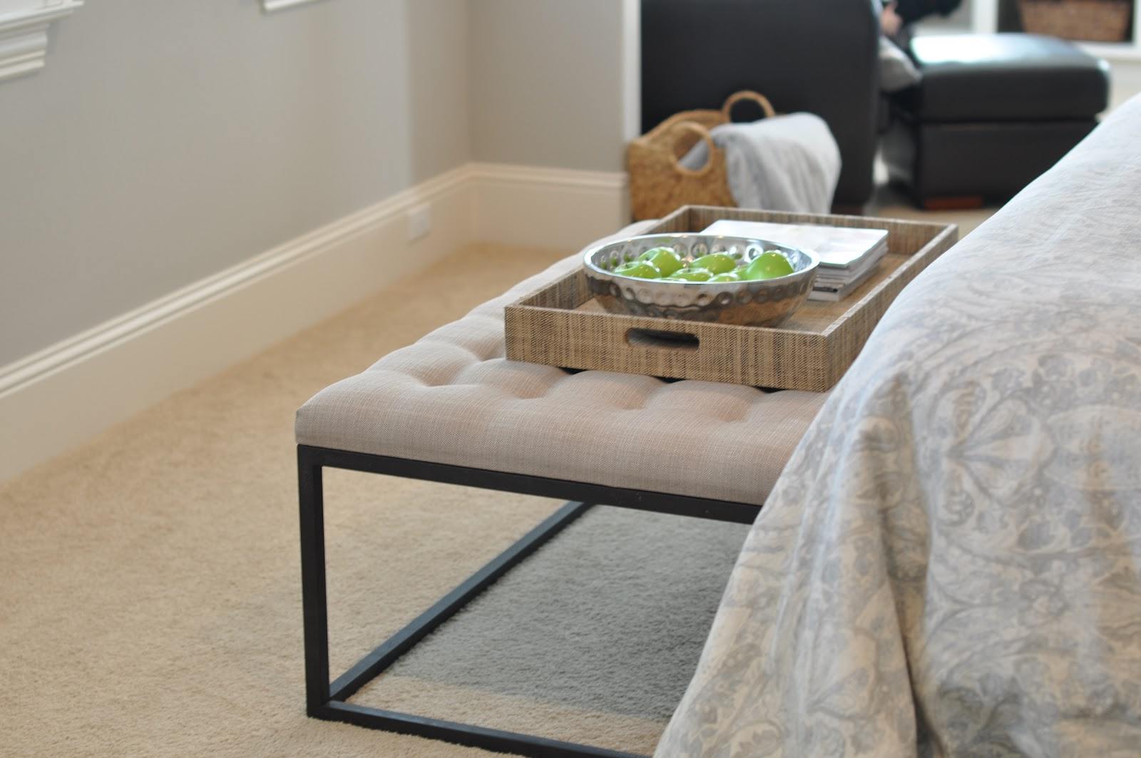 End of the Bed Bench (under $300) | Honey We're Home