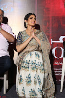 Sri Devi in designer saree stunning beauty at the launch of MOM movie Trailer~  Exclusive 112.JPG