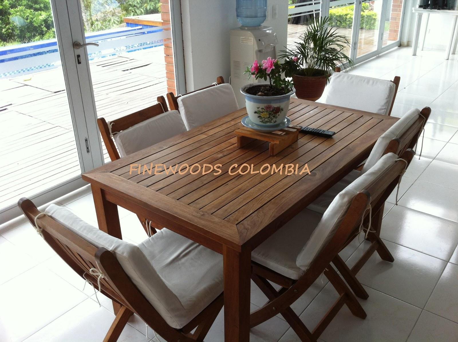 Finewoods Colombia Muebles Exterior # Muebles Teca Exterior