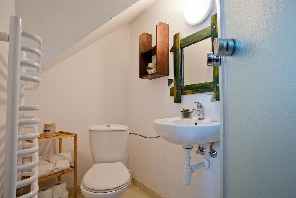 łazienka, pokój i noclegi Beskid Niski