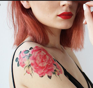 Roses are the foremost common flower design for tattoos, symbolizing love