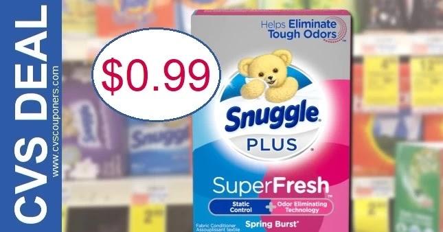 Snuggle Dryer Sheets CVS Deal 8-22-8-28