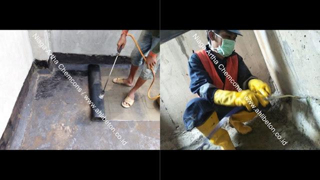 Perbaikan beton bocor