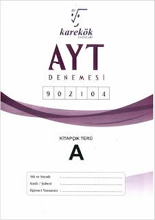Karekök Yayınları TYT Denemesi 902104 Cevap Anahtarı A - B Kitapçığı PDF indir