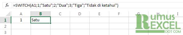 Contoh Rumus / Fungsi SWITCH Excel