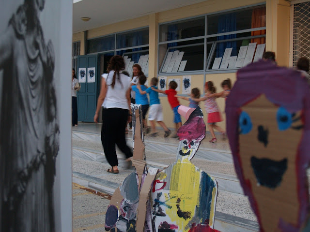 Δημιουργική απασχόληση για παιδιά κατά την διάρκεια των παραστάσεων στο Αρχαίο Θέατρο Επιδαύρου