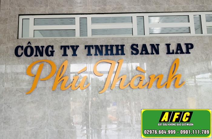 Thi công bảng hiệu alu gắn chữ nổi Phú Thành Phú Quốc