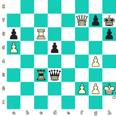 Les Blancs jouent et matent en 2 coups - Geldyeva vs Nasriddinzoda, Khanty Mansyisk, 2010