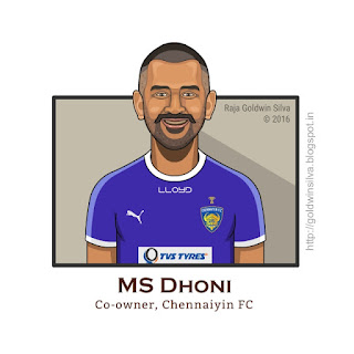 msdhoni cartoon caricature indian super league