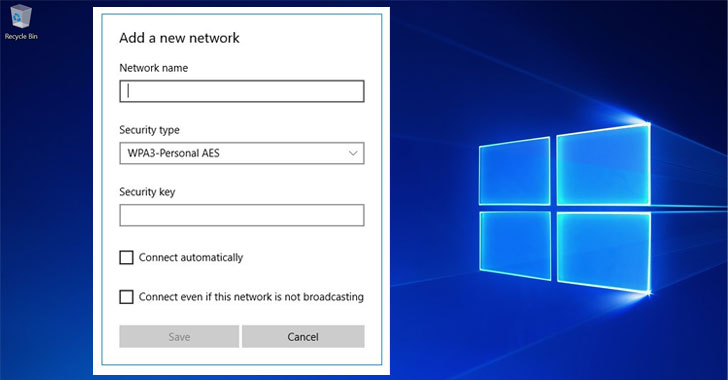 windows 10 wpa3 wifi security