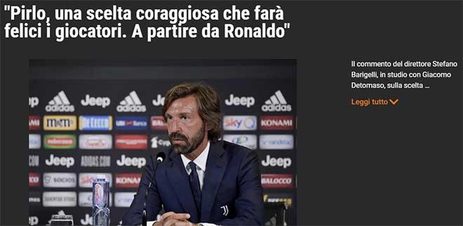 HLV Pirlo vào nghề 9 ngày được Juventus chọn: Báo Ý tiết lộ để chiều Ronaldo? 2