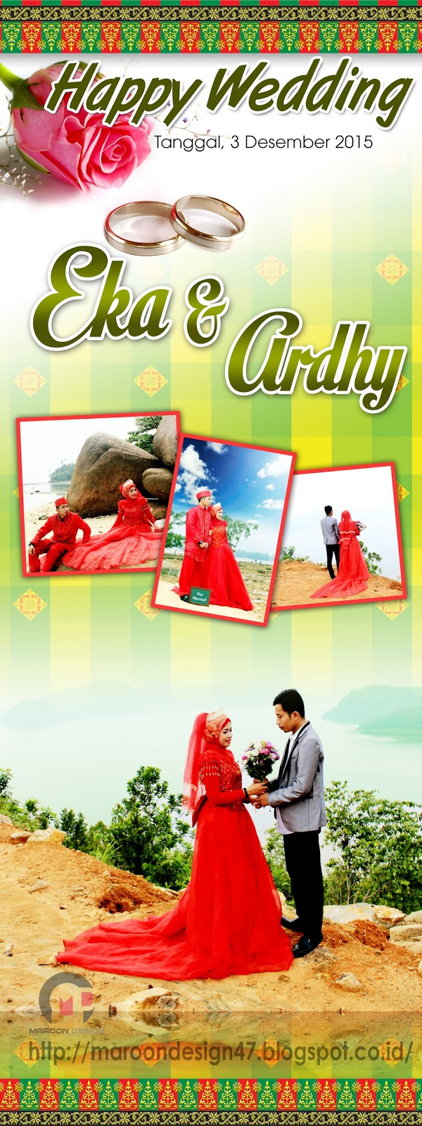 Design x banner pernikahan - Desain X Banner Wedding Psd