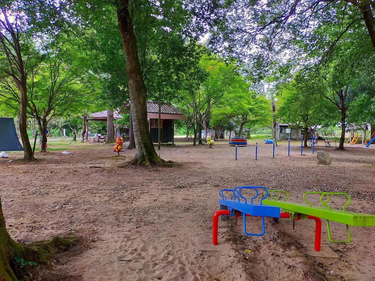 君田こども遊園地の遊園地部分。