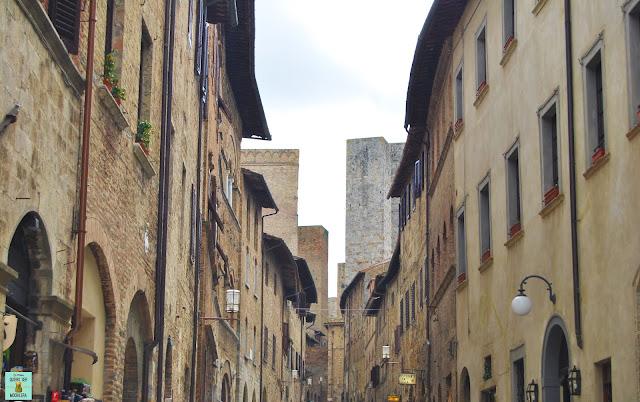Calles de San Gimignano con sus torres