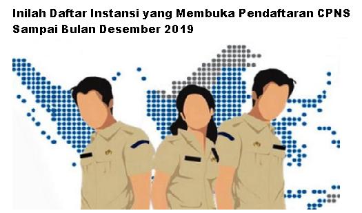 Inilah Daftar Instansi yang Membuka Pendaftaran CPNS Sampai Bulan Desember 2019