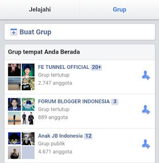 memilih grup
