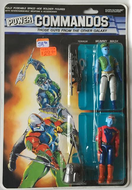 1992, Lucky Bell, Power Commandos, Mummy Mask, Metal Hawk, MOC, Carded