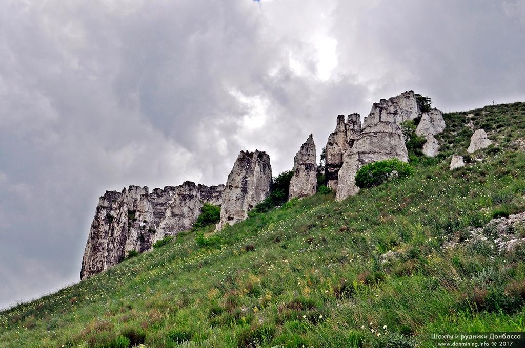 Белокузьминовские скалы. Северный Донбасс