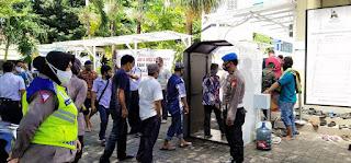 Terapkan Protokol Kesehatan, Polres Pelabuhan Cek Pelaksanaan Sholat Jum'at