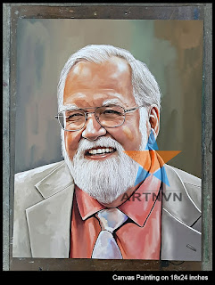 Top Best Professional Oil Canvas Portrait Art Painting Artist in Hyderabad Telangana INDIA | ARTNVN