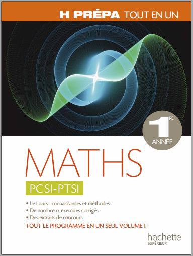 Livre : Maths PCSI - PTSI, 1ère année - Marie Allano-Chevalier PDF
