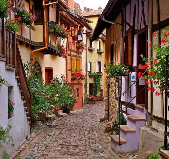 Street in Eguisheim, France