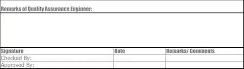 Excel Sheet of Reinforcement Work Check List