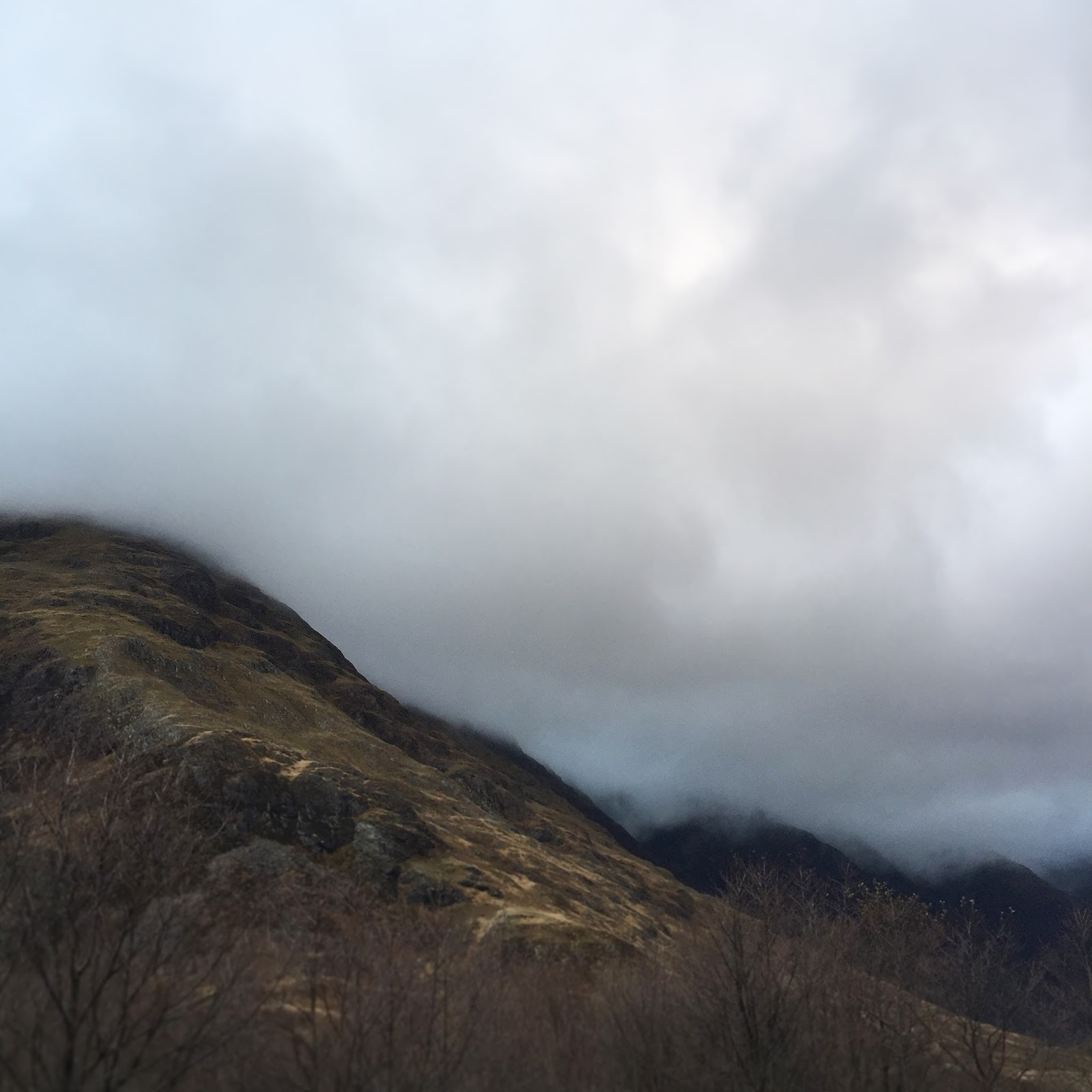 Mist Mountains in Scotland