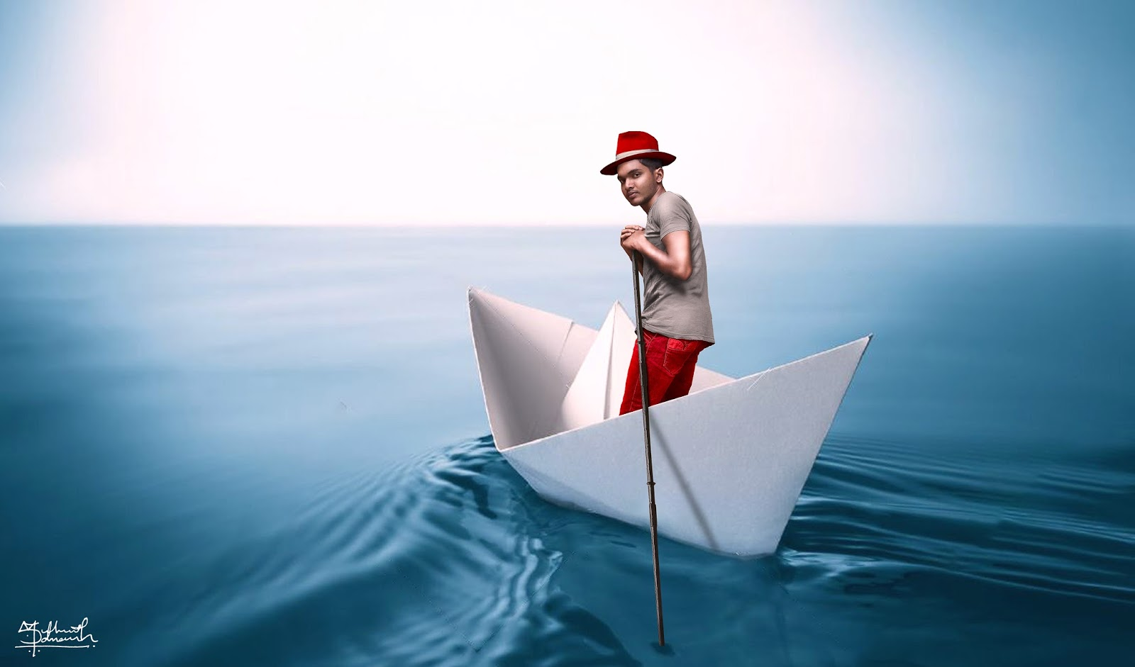 Paper boat origami photo manipulation photoshop tutorials by paper boat origami photo manipulation photoshop tutorials by salman dafi baditri Gallery