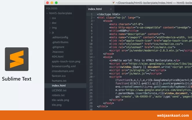 Sublime Text (Free & Paid) HTML Editor