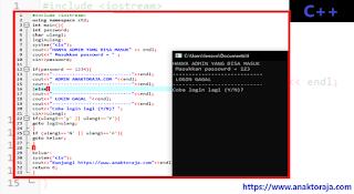 Contoh Program Cara Membuat Login C++