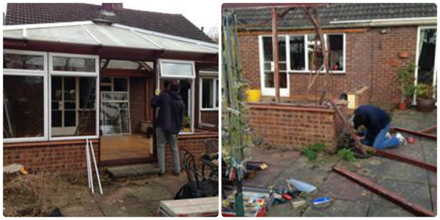 disassembling conservatory