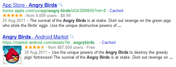 Rich Snippets for Apps