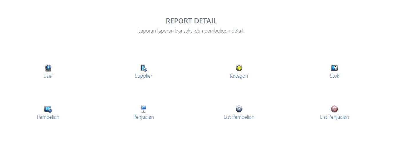 laporan detail APLIKASI PROGRAM KASIR ONLINE TERBARU - SOFTWARE KASIR