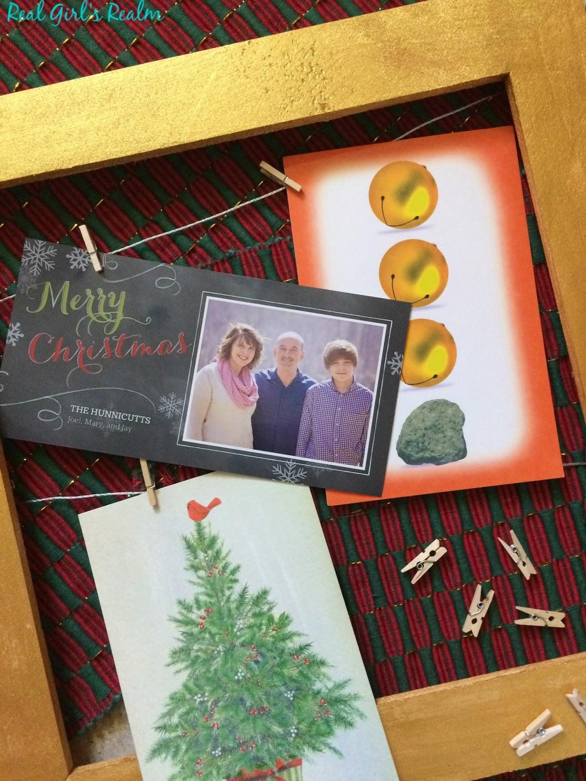 Real Girls Realm Diy Christmas Card Holder